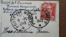2272 / 2 X POSTES AUX ARMEES / 1943 + 1949 !!!!! / WORMS (GERMANY) to  FRANCE