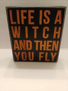 Halloween Witch Box Sign