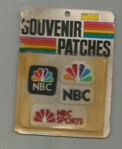 (4) 1972 NBC SPORTS OLYMPICS PEACOCK PATCH PATCHES LOT NEW IN PACKAGE NIP FELT