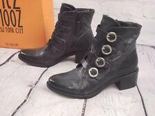 NIB - Miz Mooz Leather Buckle Ankle Boots - Fawn - Smoke - EU 39 US 8.5 - 9