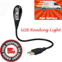 FP- Flexible gooseneck Arm USB 2.0/3.0 2 LED Lights with On/Off Switch Reading L
