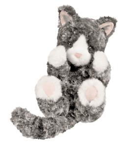 NEW Douglas Cuddle Toy Kitten Cat Cute blk/white Plush Kids Gift (Age 2 years+)