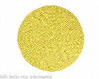 New Yellow Beautiful Color Children's Room Carpet 90-200cm Felt Ball Rug Woolen