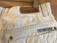 U.S. Polo Assn. men's size 32 x 10.5 cargo shorts ivory flat solid zip fly cotto