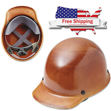 MSA Full Brim Hard Hat Adjustable Protective Construction Helmet