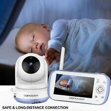 "Dbpower Baby Monitor w/ 4.3"" Split Screen Sound Activated Video Record Us Seller"