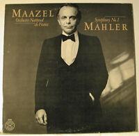Mahler Symphony No.1 Orchestre National de France Lorin Maazel LP NM-