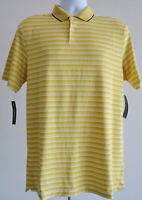 Nike Dri-Fit Golf Polo Shirt Striped New Size Small Mens Yellow Standard Fit Nwt