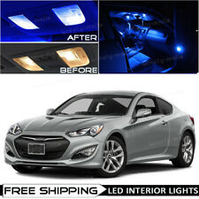 Blue Interior LED Lights Package Kit Bulb for 2010-2016 Hyundai Genesis Coupe O5