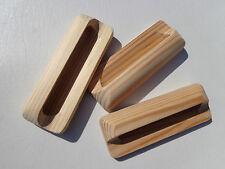 Holzmuschelgriffe, Möbelgriffe, Muschelgriffe Kiefer roh, Bla. 64 mm