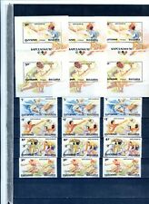 "1990 BULGARIA- 3 Sets + 3 Sheets ""OLIMPIADAS DE BARCELONA 1992,  SPORTS""  MINT"
