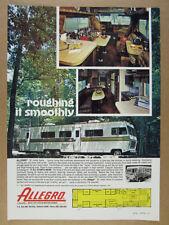 1978 Allegro 35 RV Motorhome photos floorplan vintage print Ad