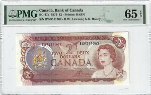 BC-47a, 1974 $2 Canada, Bank of Canada, PMG 65EPQ Nice!