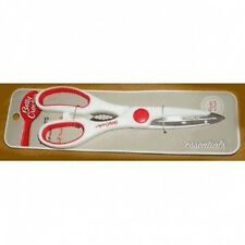 "Betty Crocker kitchen shears Scissors 8.5"" stainless steel, white/red"