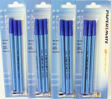 12 x Papermate Smartliner Fibre Tip Fine Liner Pens Extra Fine 0.4mm Blue NEW
