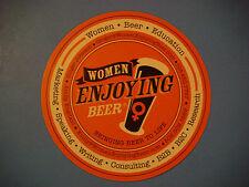 Beer Brewery Coaster: Women Enjoying Beer www.KSKQ.org Live Streaming Radio Show