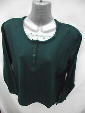 BNWOT Womens Sz 10 Forest Green Grandpa Style Long Top
