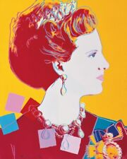 ANDY WARHOL - Queen Margrethe II  POP ART PRINT Poster 11x14 - OUT OF PRINT