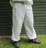 NEW BRITISH ARMY SURPLUS ISSUE SNOW CAMO TROUSERS, CAM WHITES,NATO 170,180,190cm