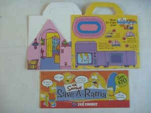 THE SIMPSONS Lounge-A-Rama RED ROOSTER promotional KIDS MEAL PREMIUM BOX+LEAFLET