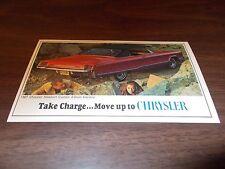 1967 Chrysler Newport Custom 2-Door Hardtop Advertising Postcard