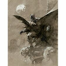JIM LEE rare BATMAN OVER SAN PROSPERO paper giclee WB art COA!!