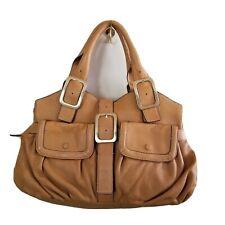 Cole Haan Beige Soft Leather Shoulderbag Large Tote  Purse EUC