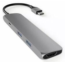 SATECHI SLIM ALUMINUM TYPE-C MULTI-PORT ADAPTER WITH USB-C 4K HDMI