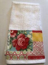 "Country Farmhouse Print Decorative Hand Towel 25""L X 16""W"