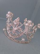 Smaller Baby Crown .crystal Rhinestone Crown . Little Crown