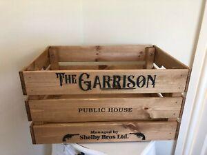 Large Peaky Blinders Garrison Design Champagne Wine Crate Box Storage Retro