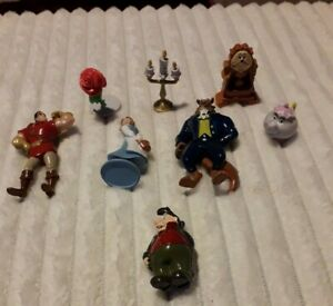 DISNEYS BEAUTY AND THE BEAST CAKE TOPPERS 8 PLASTIC FIGURES