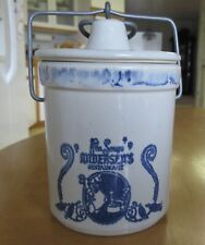 Vintage Andersen's Pea Soup Restaurant, Sharp Cheddar Stoneware Jar w Lid.
