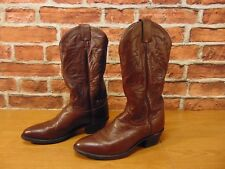 MENS JUSTIN COWBOY LEATHER  BOOTS SIZE 7.5 EE