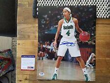 Skylar Diggins Signed 11x14 Photo Autographed Coa Psa/Dna Notre Dame Dallas Au