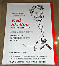 RED SKELTON Carnegie Hall 1990 Performance Poster   Beyond Rare!   22x30 Rolled