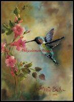 Chart Needlework Crafts DIY - Counted Cross Stitch Patterns - Hummingbird