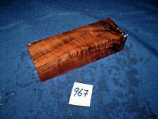Nussbaum Maserholz Messergriffblock  Messergriff    120 x 40 x 30 mm     Nr: 967