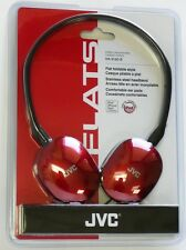 HAS160R JVC FLATS Lightweight Headband Headphones (Red) for Mp3/laptop/Radio