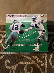 1997 Edition Dallas Cowboys Troy Aikman Emmitt Smith Fully Poseable Figures  NIB