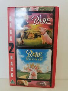Babe, Babe Pig in the City VHS Video Retro