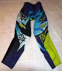 NEW FOX RACING 180 COSTA MOTOCROSS YOUTH RACE PANTS BLUE SIZE 28 01073-002-28