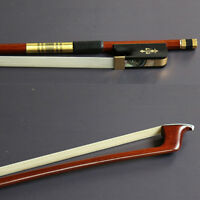 Master Pernambuco Cello Bow Ebony Frog beautiful bow Gold Mounted full size 4/4