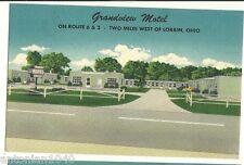 Grandview Motel Lorain Ohio OH Green Post Card
