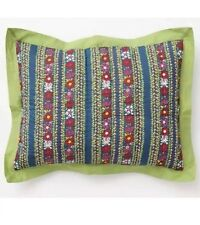 NEW Anthropologie Wildfield Set Of King Pillow Shams 100% Cotton Multicolor