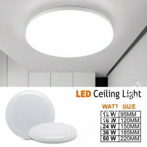 UK LED Ceiling Light Panel Down Lights Living Room Bathroom Wall Lamp12W-50W QW