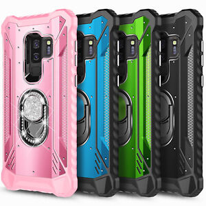 For Samsung Galaxy S9 / S9 Plus Case Shockproof Magnetic Ring Stand Phone Cover