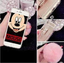 For iPhone 5 5S SOFT SILICONE RUBBER TPU SKIN CASE COVER BLACK MICKEY MOUSE EARS