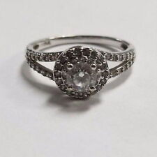 14k White Gold Cubic Zirconia Engagement Ring Size 6.25 Jewelry #Cs-Fwr58B