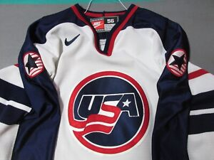 Authentic USA National Hockey Jersey Nike Hockey Jersey 56 Fight Strap Olympic